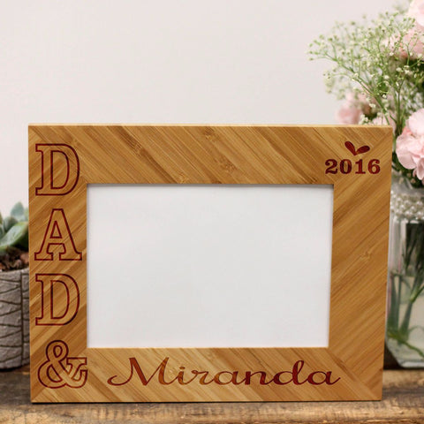 "Personalized Picture Frame - ""DAD &"""