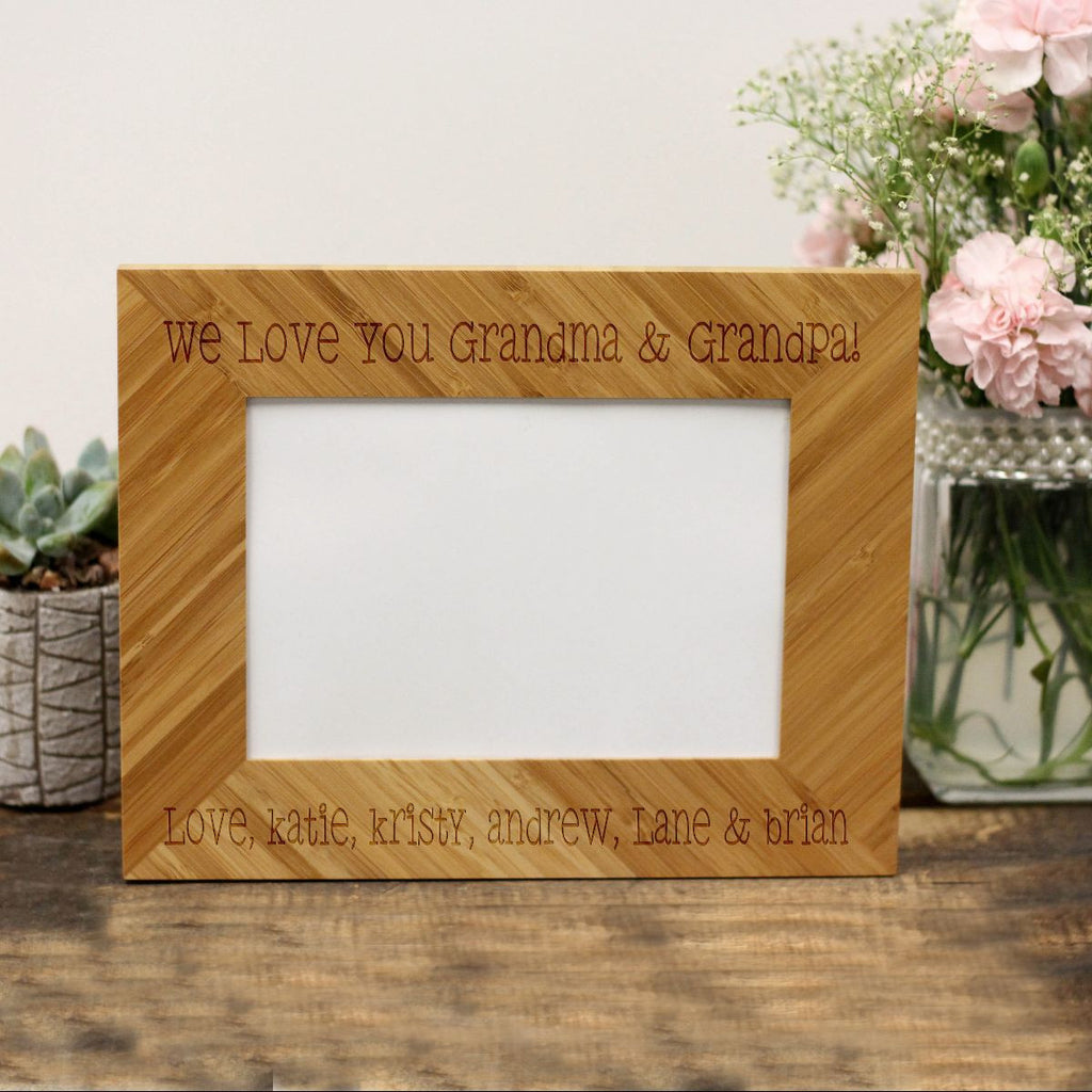 "Personalized Picture Frame - ""We Love You Grandma & Grandpa!"""