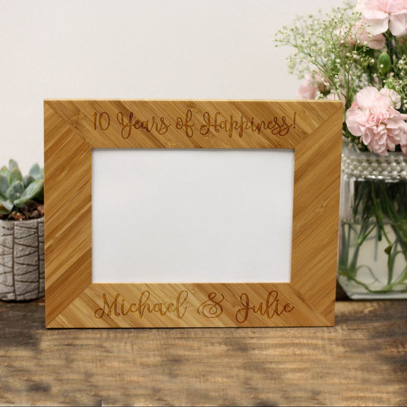 "Personalized Picture Frame - ""10 Years Of Happiness!"""