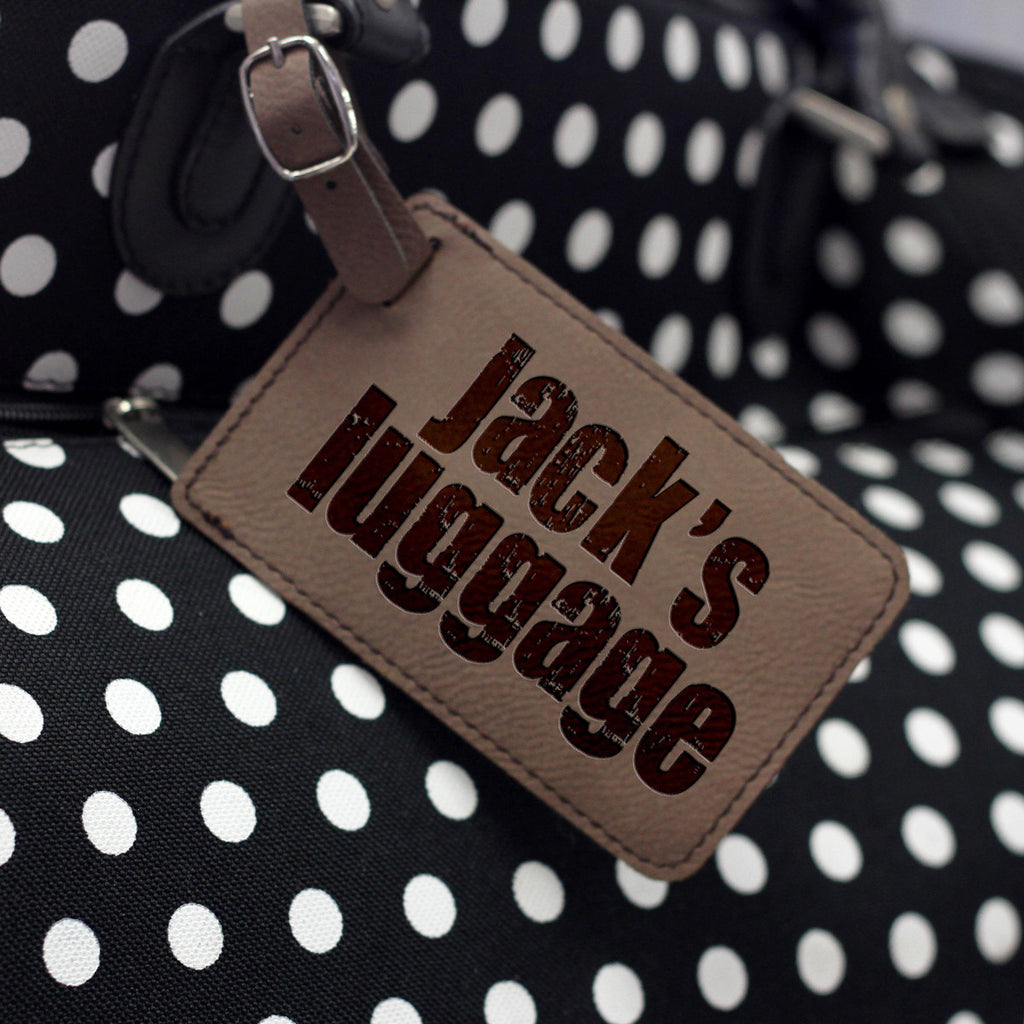 """Jack's Luggage"" Personalized Leather Luggage Tag"