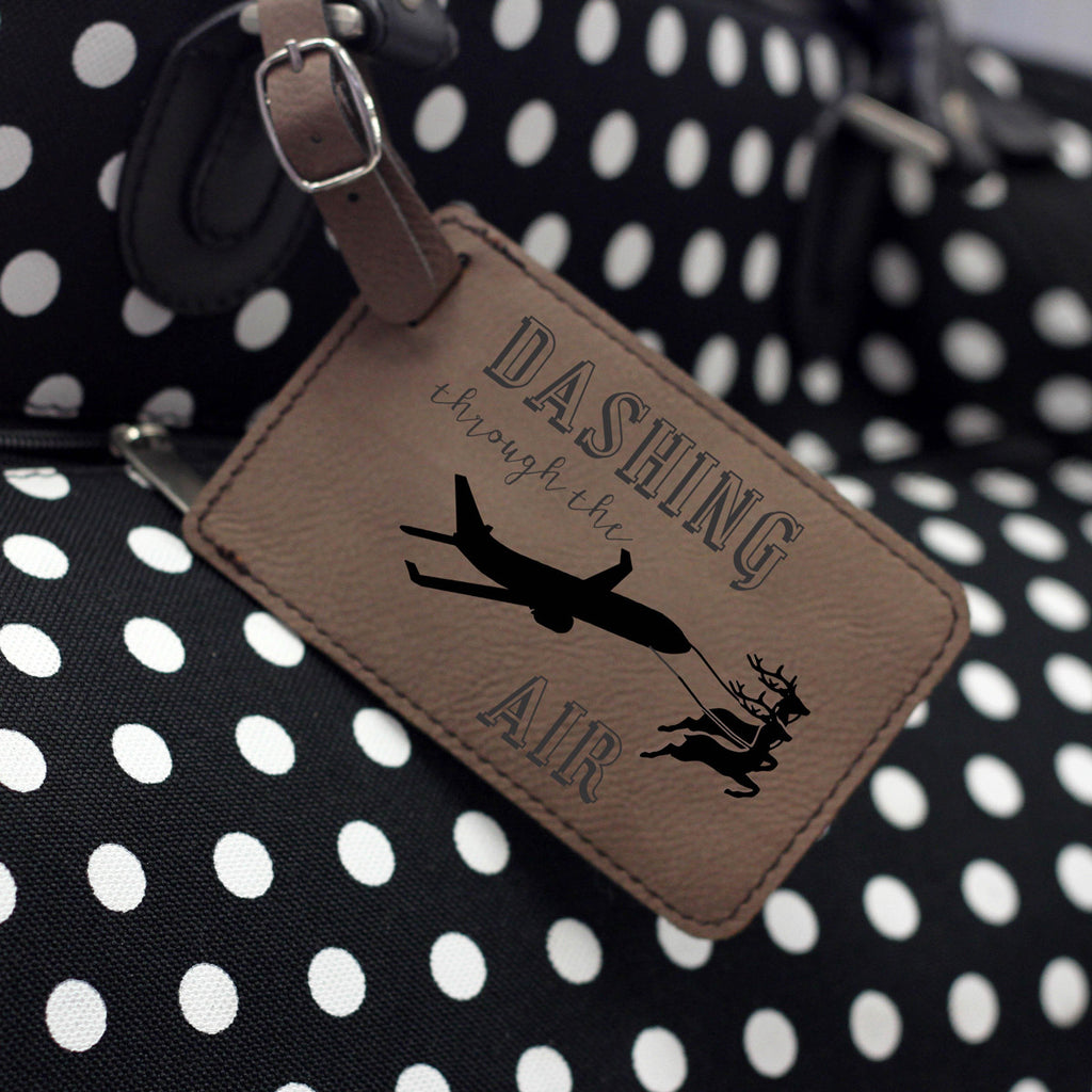 """Air Travel"" Leather Luggage Tag"