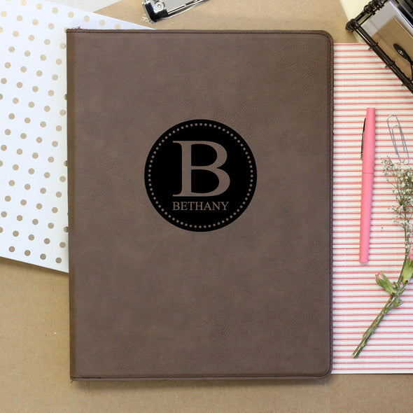 Personalized Journal, Notebook with initial and name