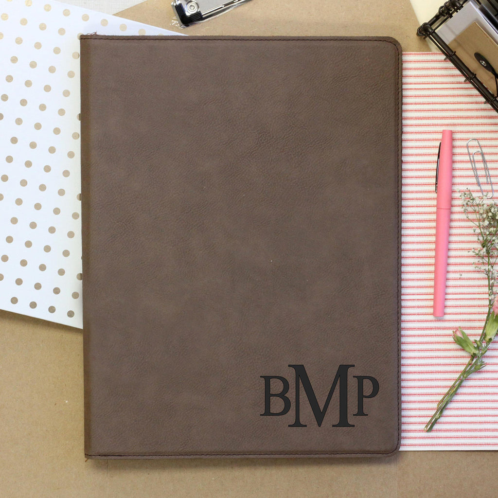 """3 Letter Monogram"" Personalized NotebookNotepad"