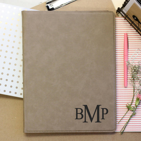 """3 Letter Monogram"" Personalized Journal"