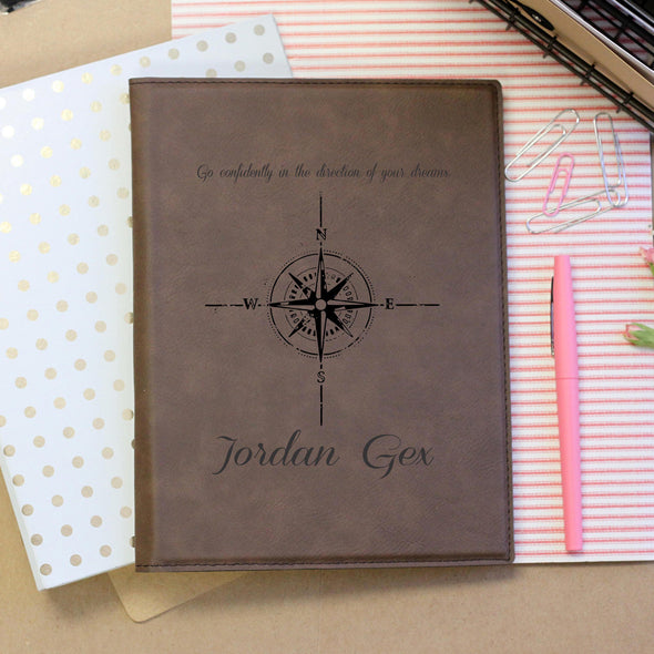 Personalized Notepad or Personalized Journal: Compass