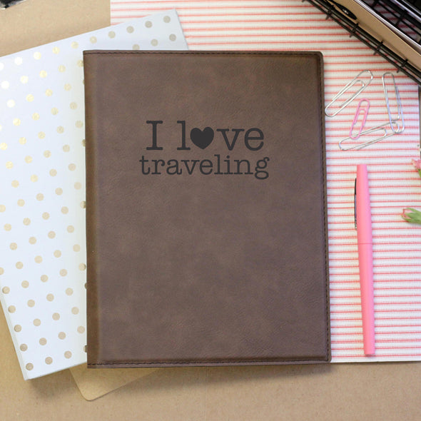 """I love Traveling"" Notebook"