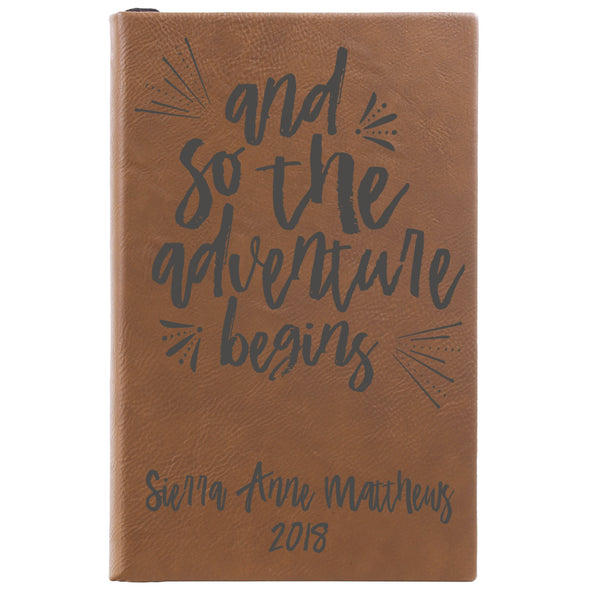 Personalized Notepad or Personalized Journal: And So The Adventure Begins