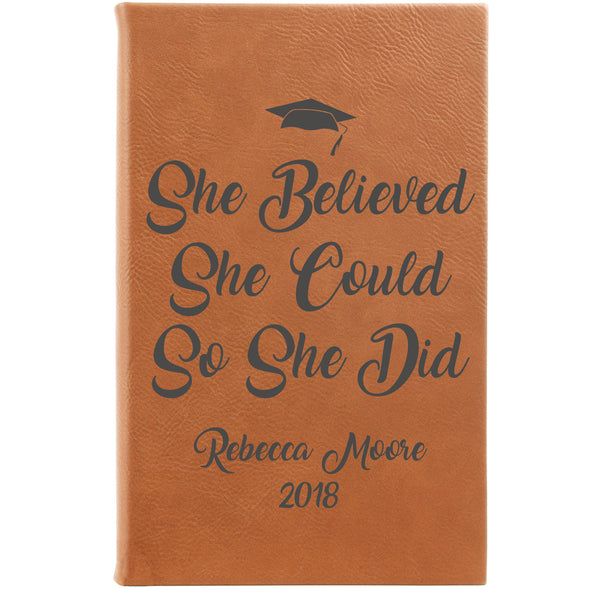 Personalized Notepad or Personalized Journal: She Believed She Could So She Did
