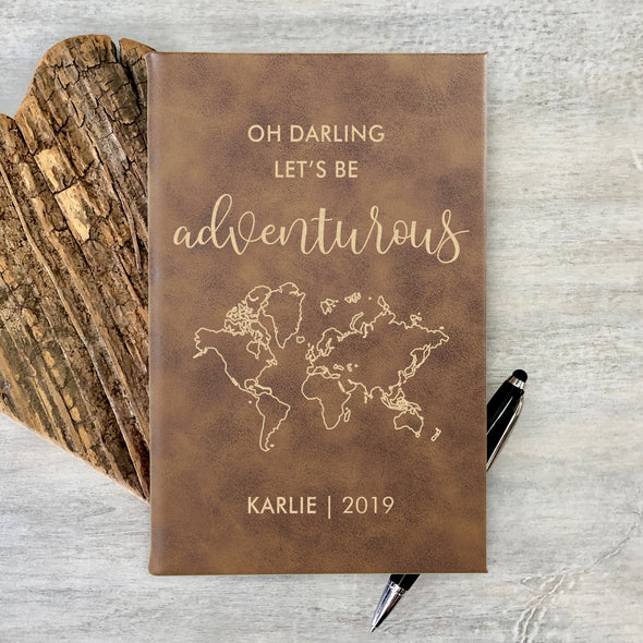 Personalized Notepad or Personalized Journal: Oh Darling Let's be Adventurous