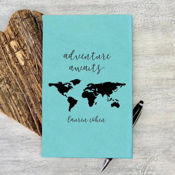 "Personalized Journal - ""Adventure Awaits"""