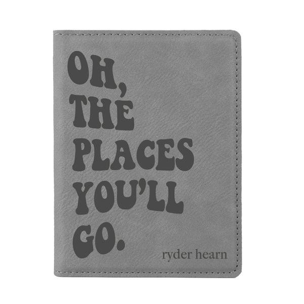 "Custom Passport Holder, ""Oh, the places you'll go"""