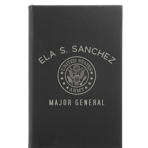 "Personalized Journal - ""Major General Army"""