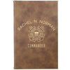 "Personalized Journal - ""Commander With Anchors"""