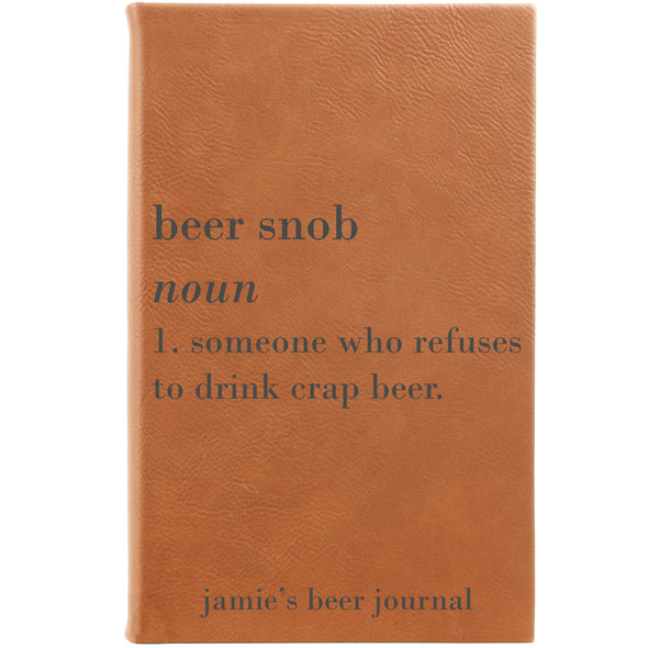 "Personalized Journal - ""Beer Snob"""
