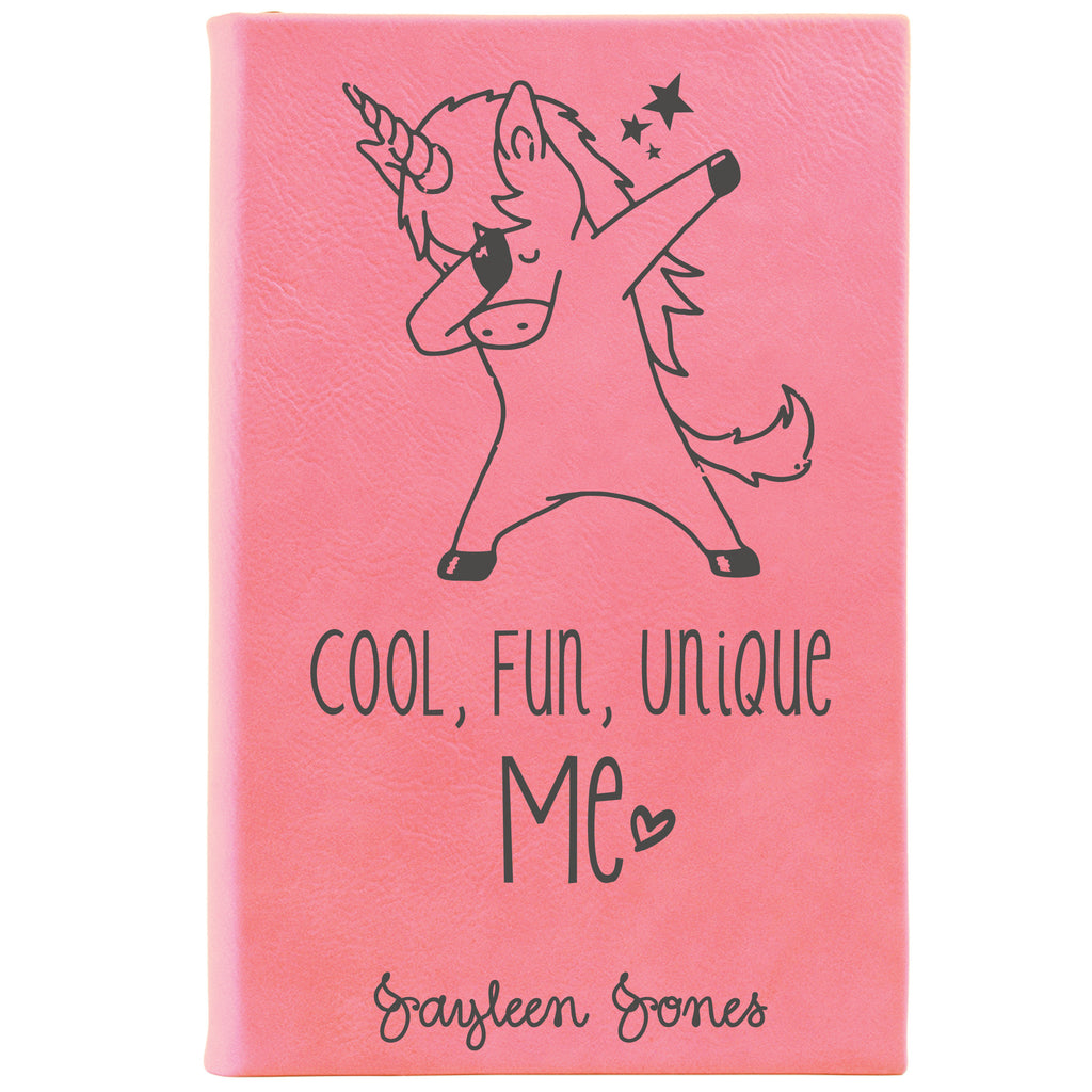Pink unicorn journal