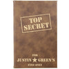 "Personalized Journal Custom Notebook Personalized Gift- ""Top Secret"""