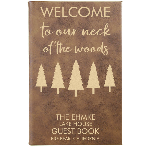 "Personalized Journal - ""Welcome To Our Neck Of The Woods"""