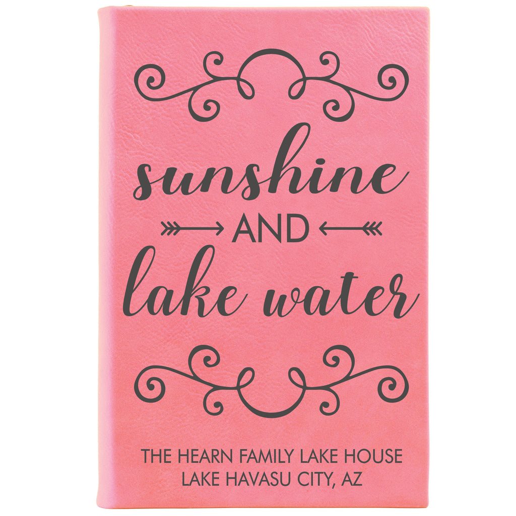 "Personalized Journal - ""Sunshine And Lake Water"""