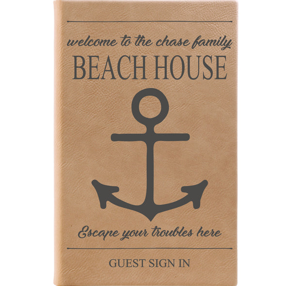 "Personalized Journal - ""Welcome To The Beach House"""