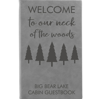 Personalized Notepad or Personalized Journal: Welcome to Our Neck of the Woods