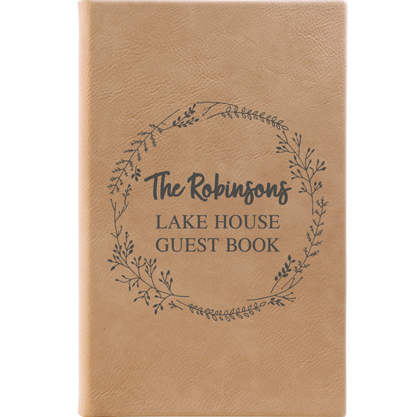 Personalized Journal, Notebook, Lake House Guestbook