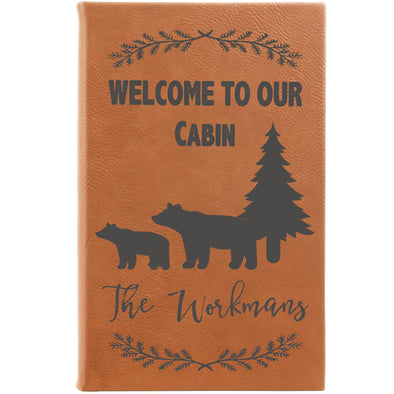 Personalized Journal, Notebook welcome to our cabin