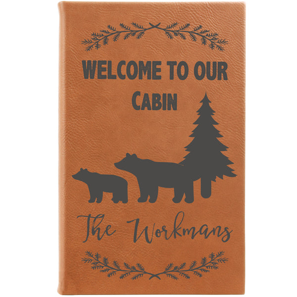 "Personalized Journal - ""Welcome To Our Cabin"""