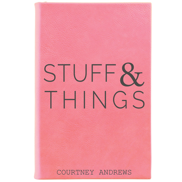 "Personalized Journal - ""Stuff & Things"""