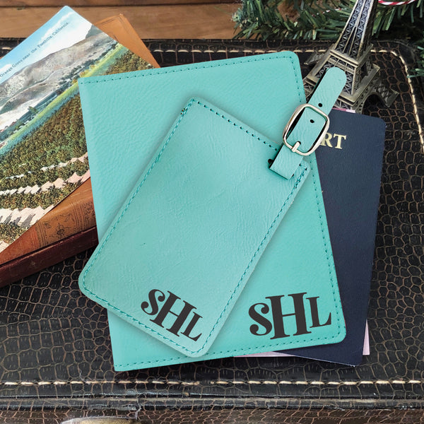 Passport Cover & Luggage Tag Set, Personalized Graduation Gift