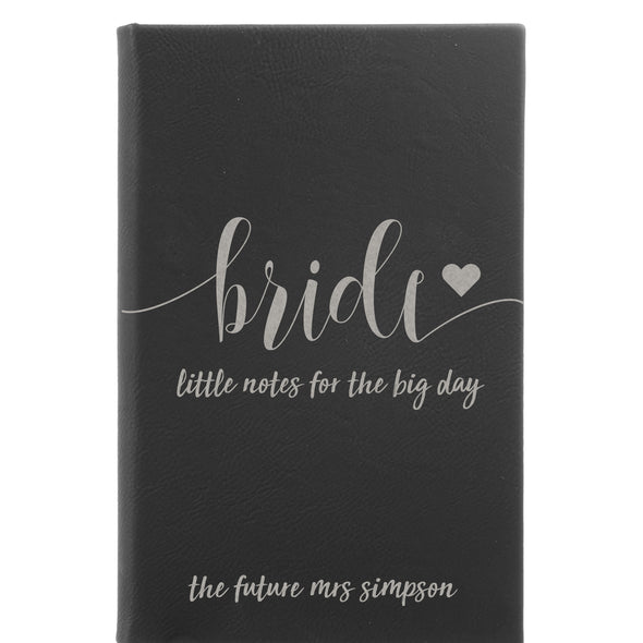 "Personalized Journal - ""Little Notes For The Big Day"""
