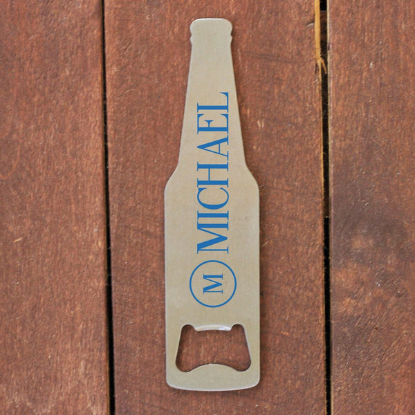 "Bottle Opener - ""Beer Shaped With Name"""