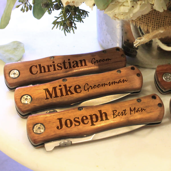 Personalized Groomsman Wooden Knifes