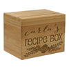 "Personalized Recipe Box, Custom Recipe Box, ""Carla's Recipes"" Recipe Box"