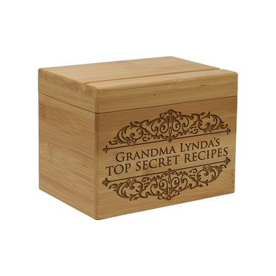 "Custom Recipe Box, Personalized Recipe Box, ""Top Secret Recipes"" Recipe Box"