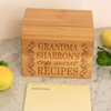 "Custom Recipe Box, Personalized Recipe Box, ""Grandma Top Secret Recipes "" Recipe Box"
