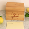 "Custom Recipe Box, Personalized Recipe Box, Engraved ""Lets Get Cooking"" Recipe Box"