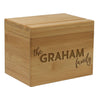 "Custom Recipe Box, Personalized Recipe Box, ""The Graham Family"" Recipe Box"