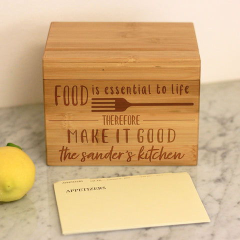 Food Is Essential To Life, Recipe Box