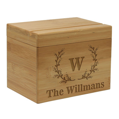 "Custom Recipe Box, Personalized Recipe Box,  ""Williams"" Family Last Name"