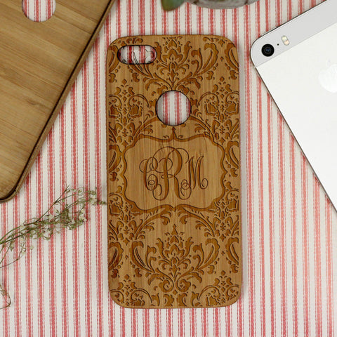 Damask Monogram, iPhone Case
