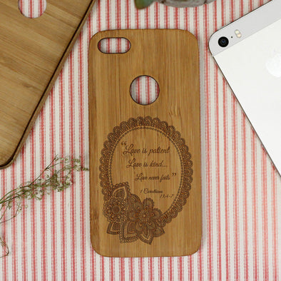 """Love is Patient"" iPhone Case"