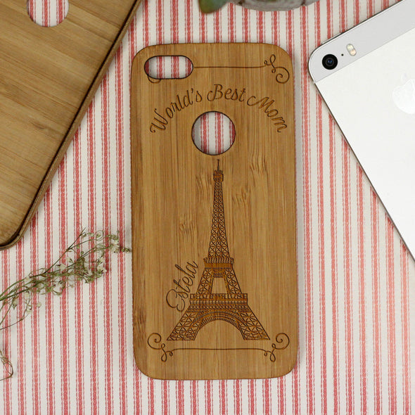"""World's Best Mom"", Paris, iPhone Case"