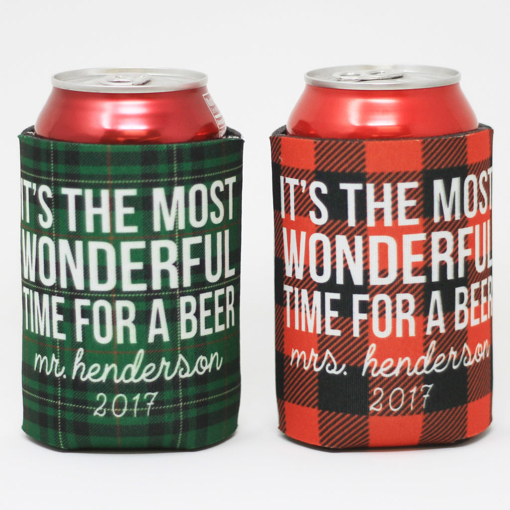 His and Hers - Wonderful Time For A Beer, Beverage Holder