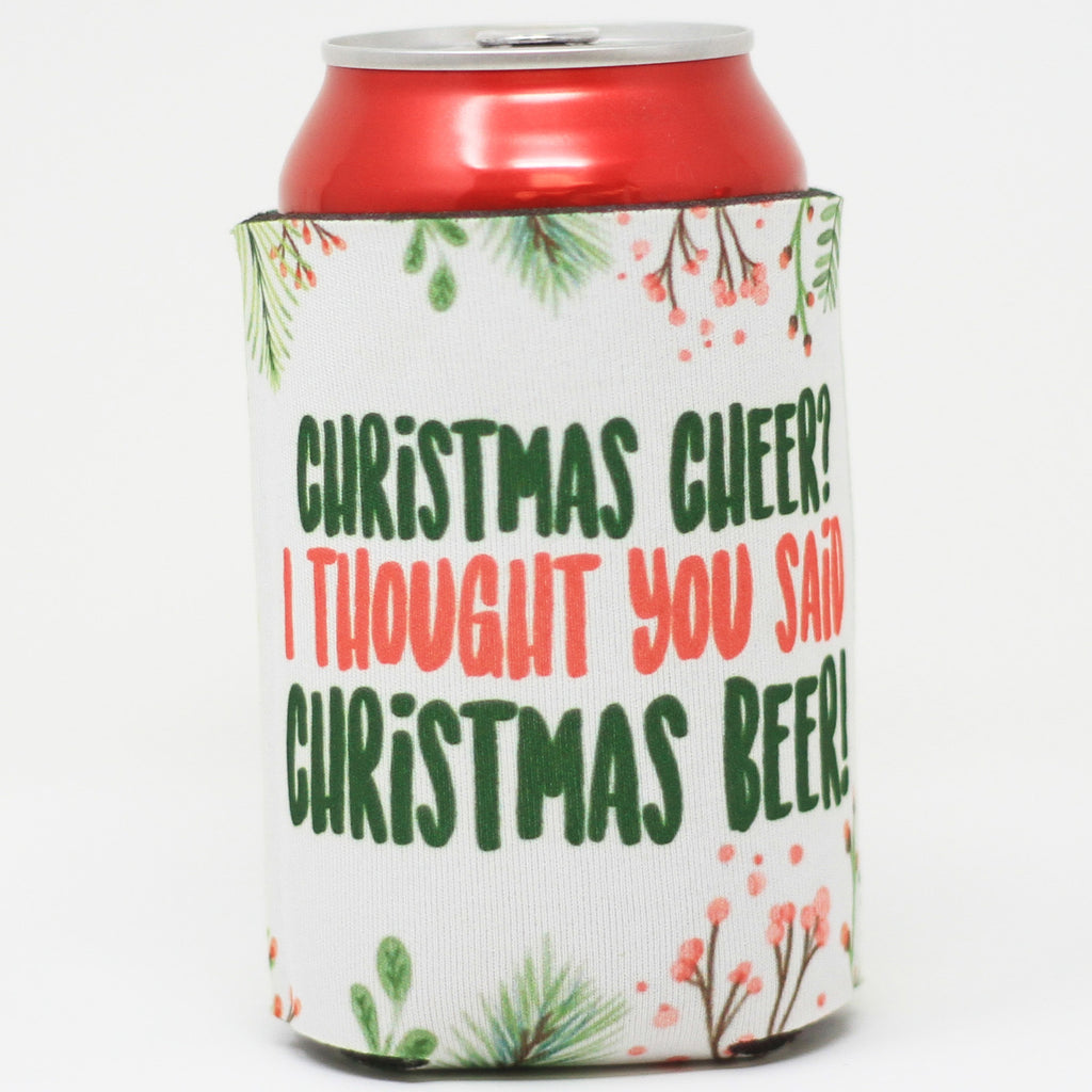 "Beverage Holder - ""Christmas Cheer Christmas Beer"""