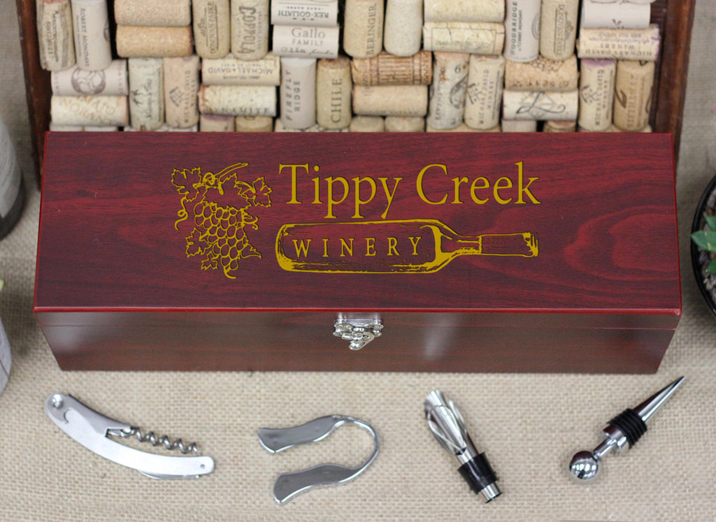 Wine Box with Tools, Tippy Creek