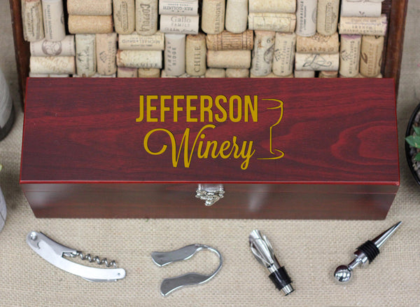 Wine Box with Tools, Jefferson Winery