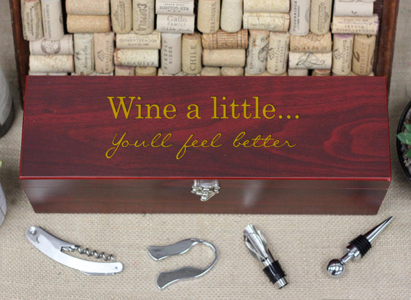 Wine Box with Tools, Wine a little