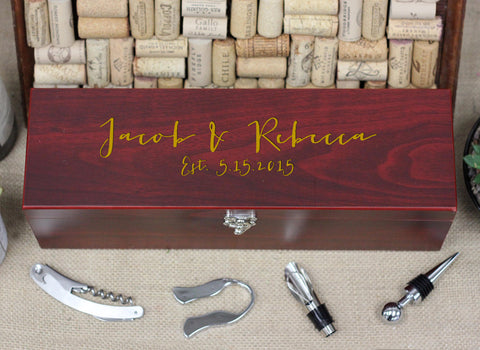 Wine Box with Tools, Jacob Rebecca