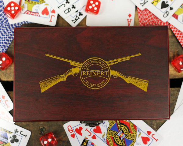 "Personalized Card and Dice Set - ""Rifles"""