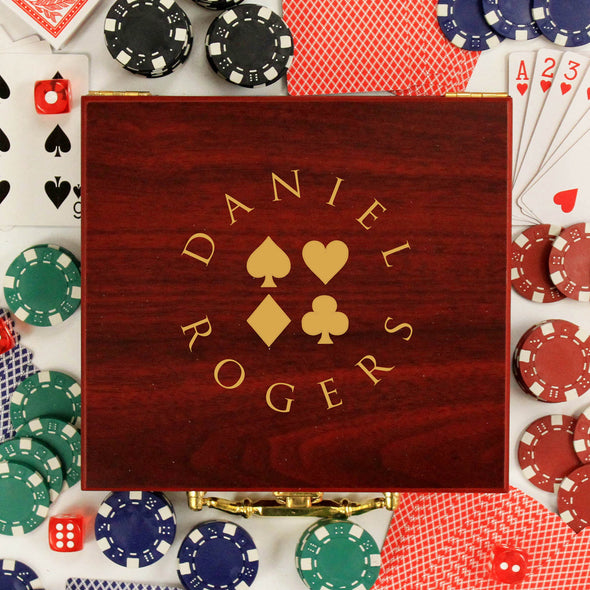 "Personalized Poker Set - ""Daniel Rogers Suits"""